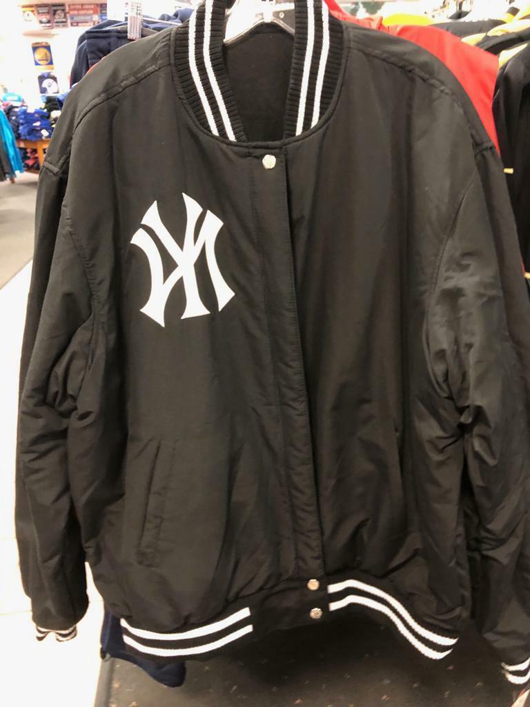new york yankees varsity jacket reversible wool