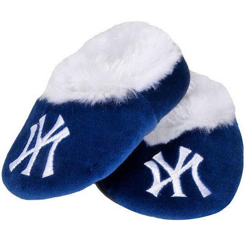 ny new york yankees baby bootie slippers