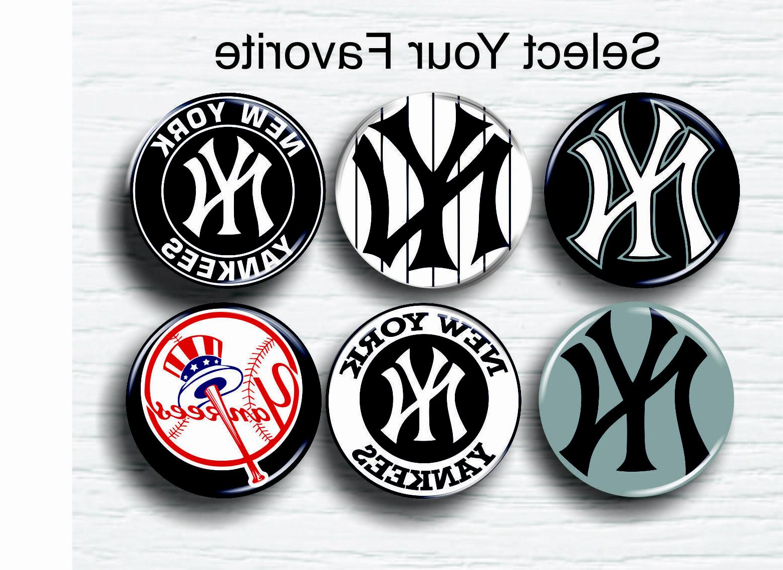ny yankees buttons 1 25 mlb team