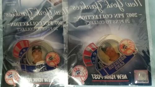 Package Yankees Collector Pins and coin.