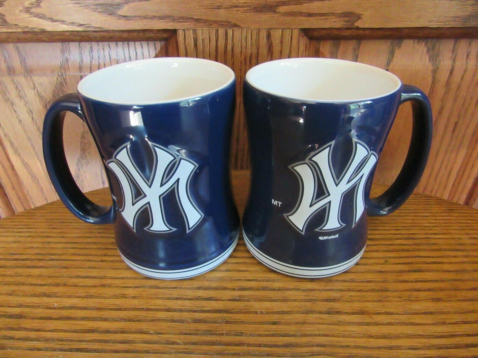 two new new york yankees deep blue