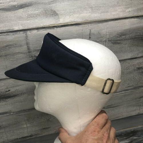 Vtg York Yankees Sun Visor Hat Adjustable 80's Baseball
