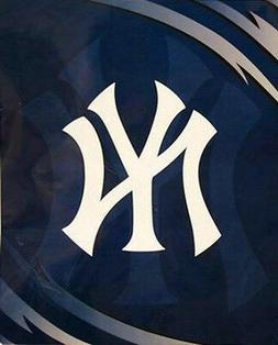 Licensed MLB Baseball New York Yankees Royal Plush Queen Siz