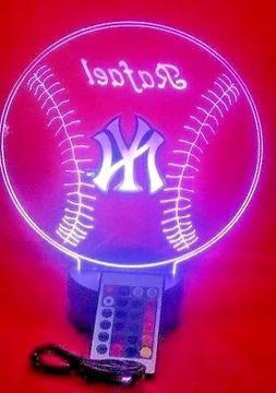 New York Yankees Light Up Lamp Personalized NY Yankees MLB B