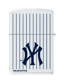"""Zippo """"New York Yankees"""" Logo Lighter, White Matte, 0403"""