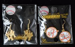 LOT OF 2 MLB New York Yankees Earrings Wincraft Sports Peter