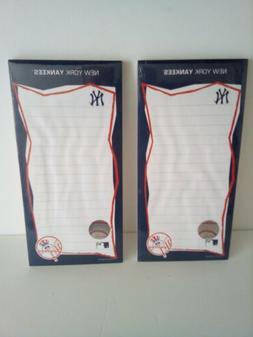 Lot Of 2 New York Yankees Fridge Note Pads