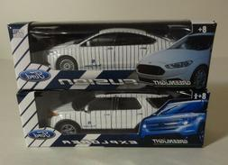 LOT OF 2 NY YANKEES ~FORD EXPLORER & FUSION~ DIE-CAST CARS 1