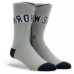 Men's Stance New York Yankees Away Jersey Crew Socks Grey