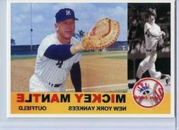 MICKEY MANTLE - NEW YORK YANKEES BASEBALL CARD - FREE SHIPPI