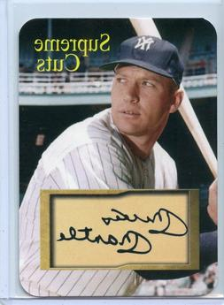 mickey mantle new york yankees die cut