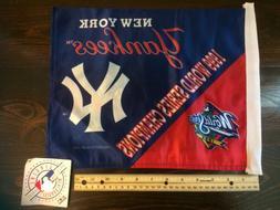 MLB New York Yankees 1999 World Series Champions car flag*FL
