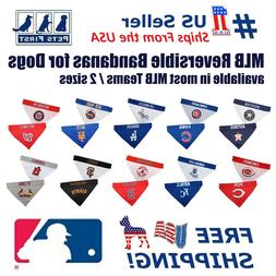 Pets First MLB Dog Bandana - Licensed, Reversible Pet Bandan
