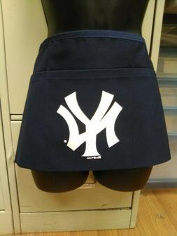 MLB NEW YORK YANKEES 3 POCKET APRON WAITRESS NAVY BLUE BRAND