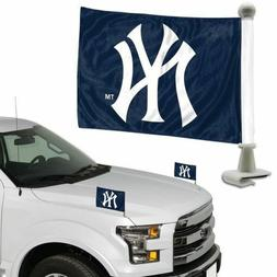 MLB New York Yankees Ambassador Hood / Trunk Car Flag- Set o