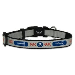 MLB New York Yankees Baseball Pet Collar, Small, Reflective