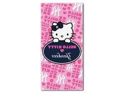 "MLB New York Yankees ""Hello Kitty"" Beach Towel, 28 x 58-inch"