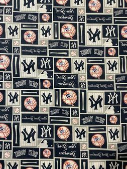 """MLB - New York Yankees Block Fabric - 18"""" x 58"""" - Same Day S"""