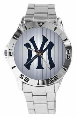 NEW New York Yankees WATCH CUSTOM STAINLESS STEEL WRISTWATCH