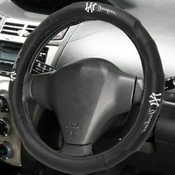 MLB New York Yankees Car Truck Suv Synthetic Leather Steerin