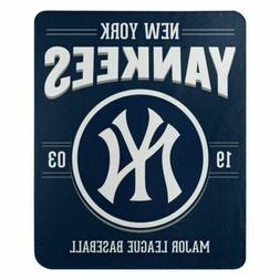 "Northwest MLB New York Yankees Fleece 50x60"" Throw Blanket B"