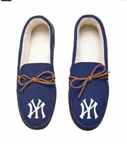 MLB New York Yankees Men's Colored Moccasin Hard Slippers-Br