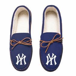 MLB New York Yankees Men's Colored Moccasin Hard Slippers-Ne