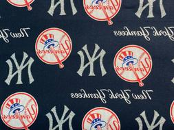 MLB New York YANKEES Navy Silver Bling  Cotton Quilt Mask Fa