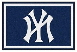 FANMATS 6962-RUG5X8 New York Yankees Nylon Face Plush Rug Te
