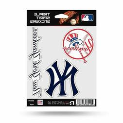 MLB New York Yankees Decal/Stickers Set of 3 Decals Stickers