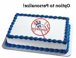 MLB NY New York Yankees Edible Photo Cake Image Frosting Bir