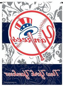 "MLB New York Yankees Premium 2-sided Paisley GARDEN Flag 13"""