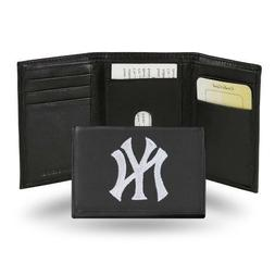 New York Yankees MLB Team Logo Embroidered Leather TRIFOLD W
