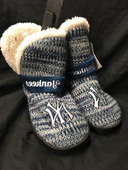 MLB New York Yankees Women Peak Boot Slippers Fluffy For Her
