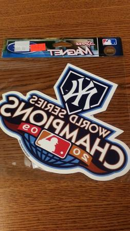 MLB NEW YORK YANKEES WORLD SERIES 2009 MAGNET NEW IN PACKAGE