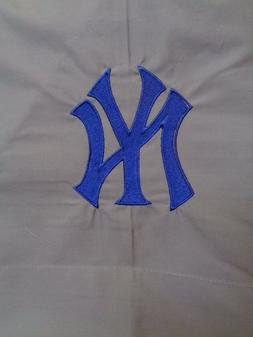NEW POTTERY BARN BASEBALL NEW YORK YANKEES GRAY BLUE  4 PIEC