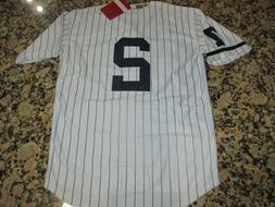 NEW!!Derek Jeter New York Yankees White Stitched Pinstripe