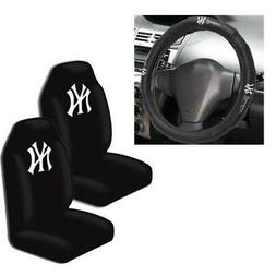 New MLB New York Yankees Car Truck Front Seat Covers Steerin