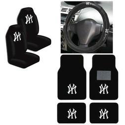 New MLB New York Yankees Car Truck Seat Covers Floor Mats St