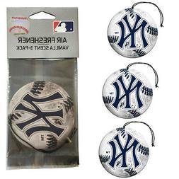 New MLB New York Yankees Premium Hanging Air Freshener 3 Pac