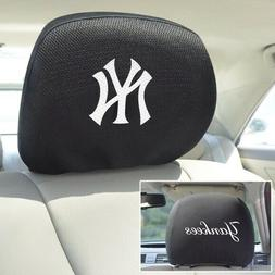New MLB New York Yankees Set Of 2 Embroidered Car SUV Vehicl