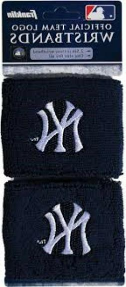 "New MLB New York Yankees Franklin Wristbands 2.5"" NY Yankees"
