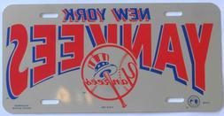 NEW New York YANKEES Baseball Mirrored License Plate Bar/Wal