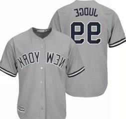 NEW New York Yankees-Judge #99 Majestic Men's Grey Cool Base