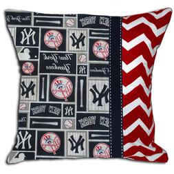 NEW NY New York Yankees MLB Baseball Decorative Throw Pillow
