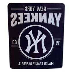 NEW Style New York Yankees License Fleece Throw Blanket 50""