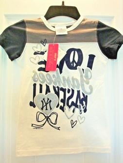 "New w/Tags Girl's ""Love Yankees Baseball"" Shirt with Bling,"
