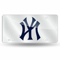 New York NY Yankees MLB Mirrored Laser Cut License Plate Las