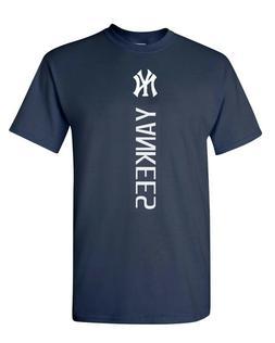 New York NY YANKEES MLB Vertical T-Shirt UNISEX T-SHIRT   S-