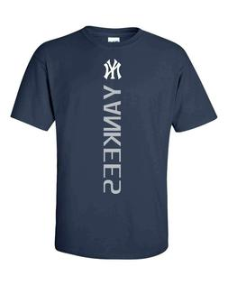 New York NY Yankees MLB Vertical T-Shirt - S-5XL FREE SHIPPI